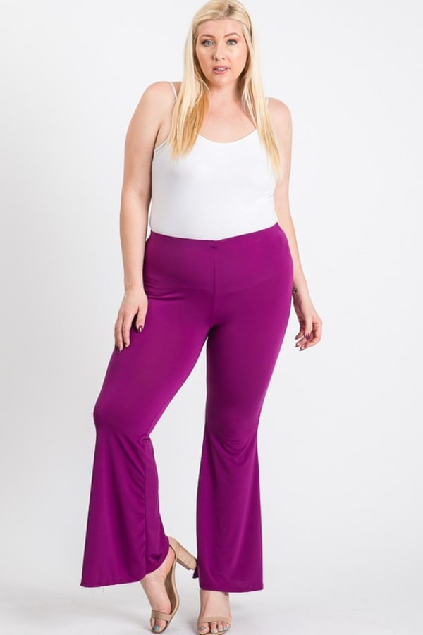 Extra days Wide Pants - Purple - Front
