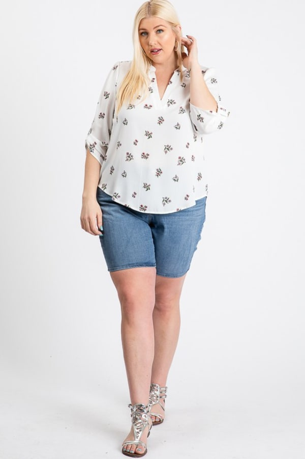 Over Wrap Top - White - Front