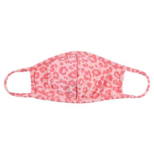 Kids Leopard Fashion Protective Face Masks - Coral - Front