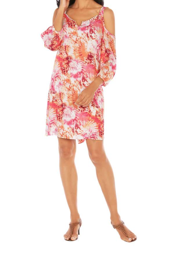 Caribbean Joe® Cold Shoulder Dress - Sundried - Front