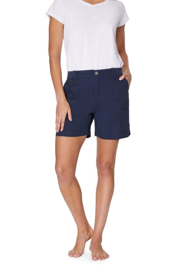 Caribbean Joe® Cotton Short - Navy - Front