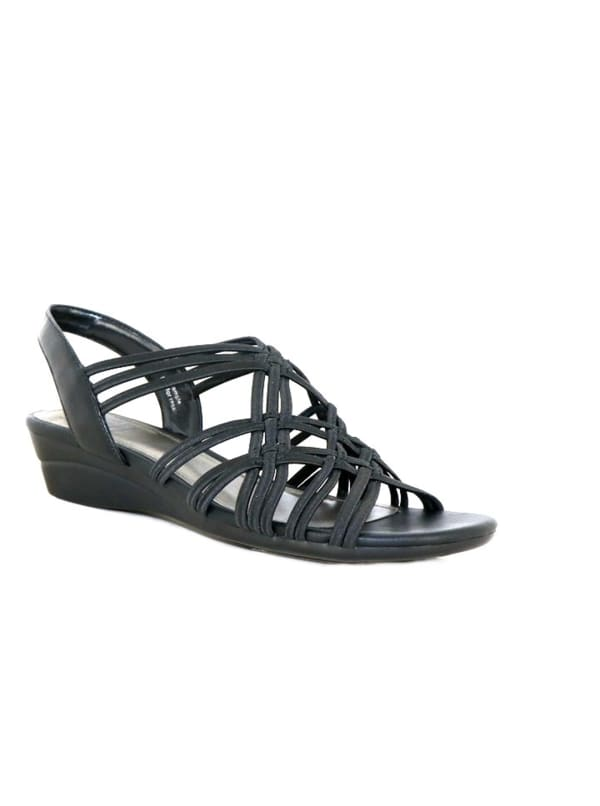 Impo Rainelle Wedge Sandal - black - Front