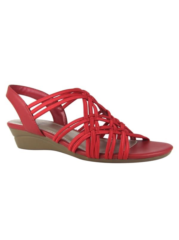 Impo Rainelle Wedge Sandal - classic red - Front
