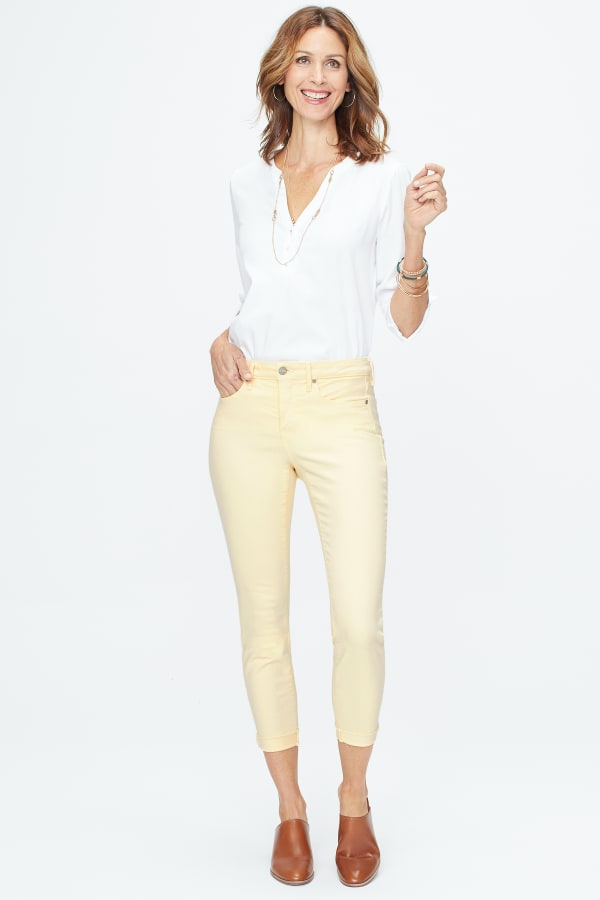 NYDJ Ami Skinny Cuff Ankle Jeans - Marigold - Front