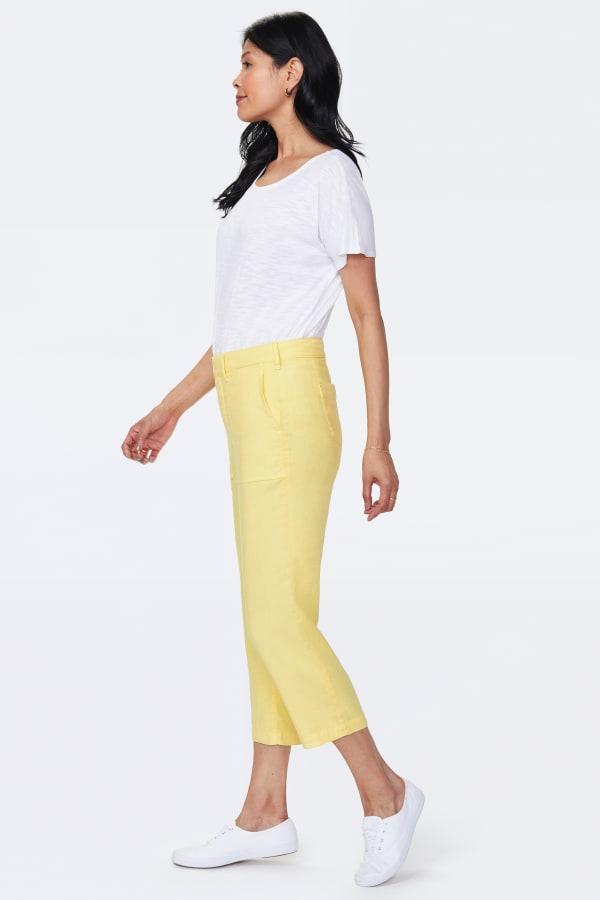 NYDJ Linen Utility Pants - Sunshine - Front