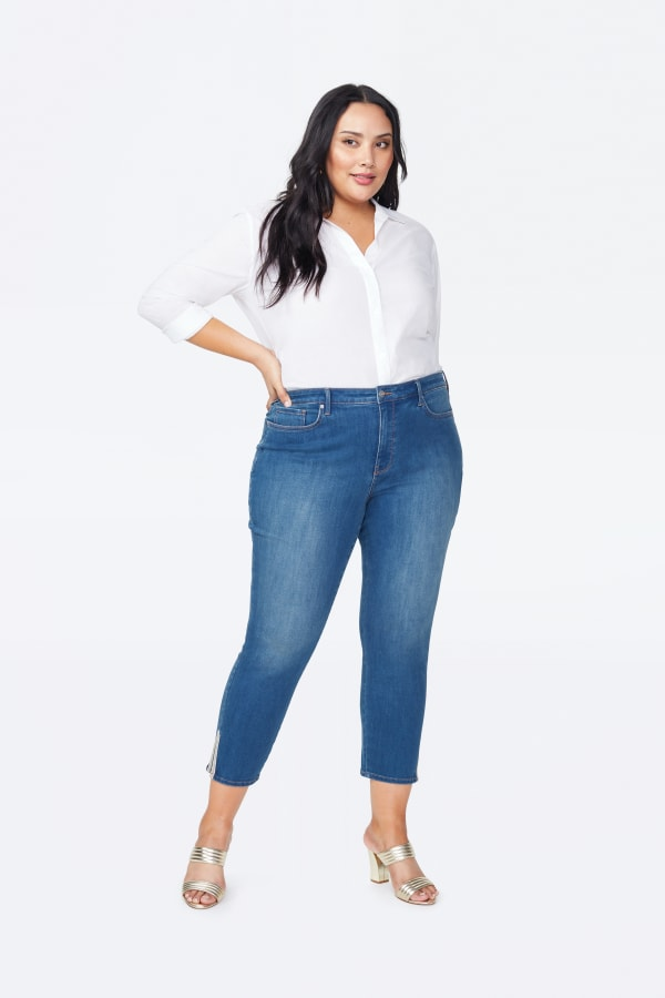 NYDJ Ami Skinny Ankle Jeans Multi-Tape Detail - Ladera - Front