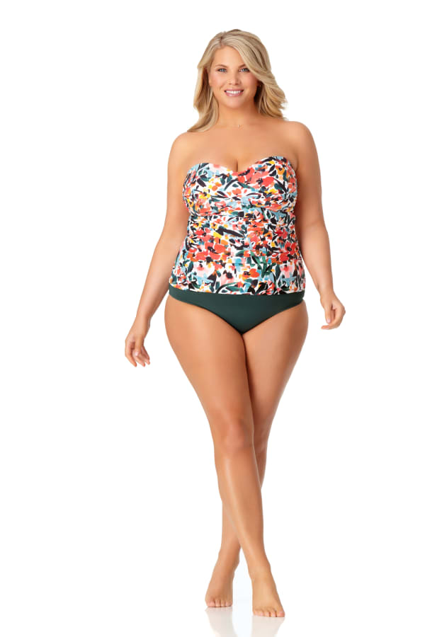 Anne Cole® Sunset Floral Twist Front Tankini Swimsuit Top - Multi - Front