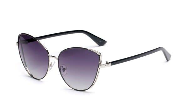Women Cat-Eye Sunglasses - Gradient Purple - Front