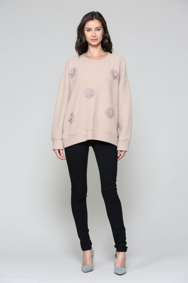 Serena Sweater - Tan - Front