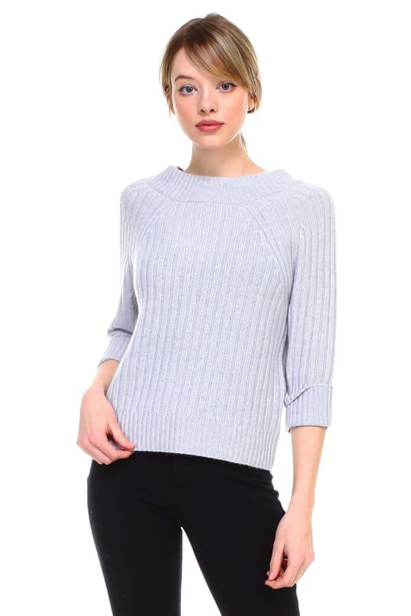 Selma Top - Grey - Front