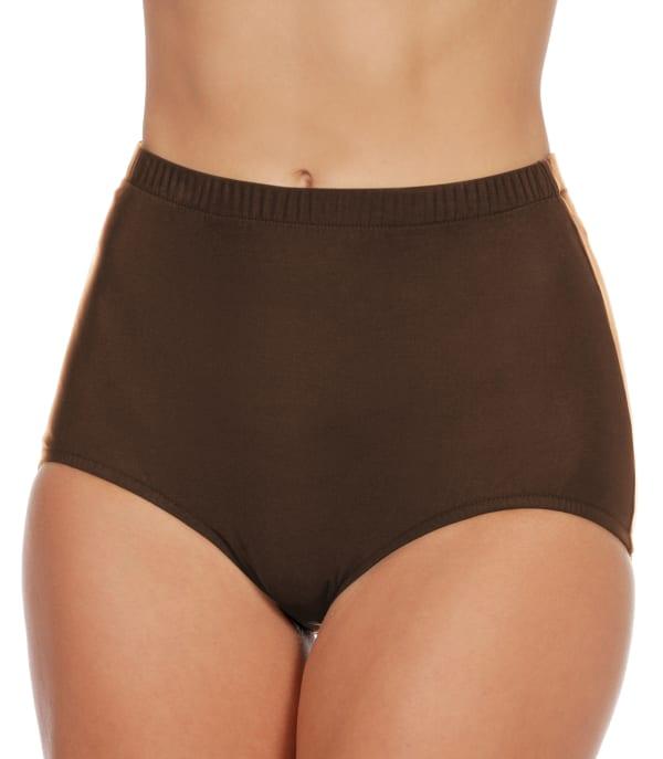 Penbrooke Swimsuit Brief Bottom - Plus - Brown - Front