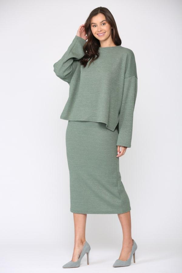 Sallie Top - Green - Front