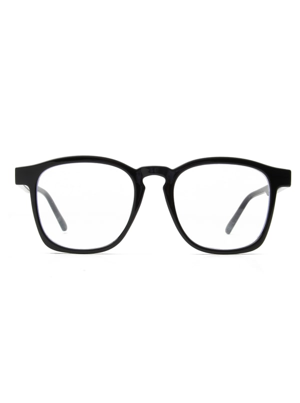 Sleek Square Sunglasses - Black - Front