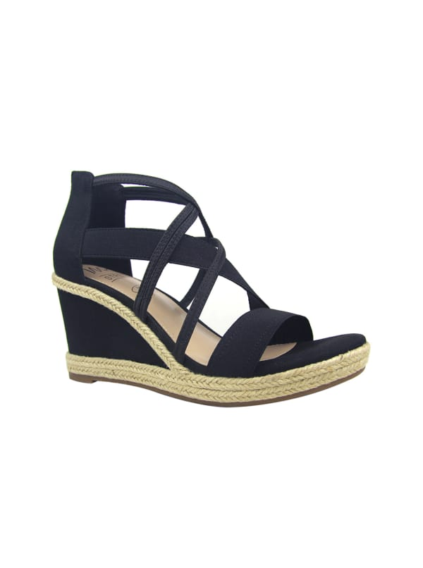 Impo Tacara Wedge Sandals - black - Front