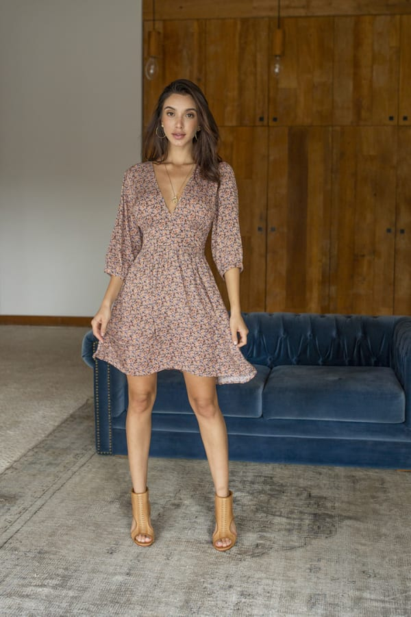 Naomi Dress - Red-Feuille - Front