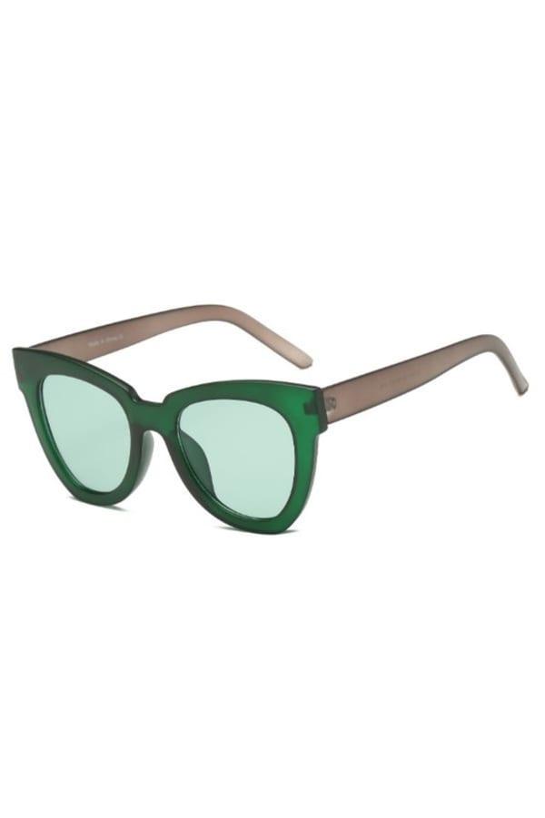 Cat-Eye Sunglasses - Green - Front