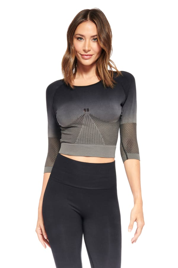 Lexi Long Sleeve Top - Black - Front