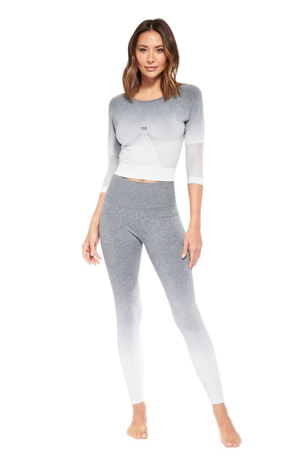 Charge Up Legging - Heather Grey - Front