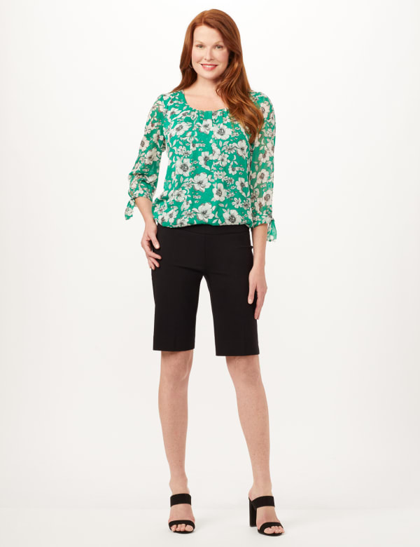 Pull-On Refined Shorts - Black - Front
