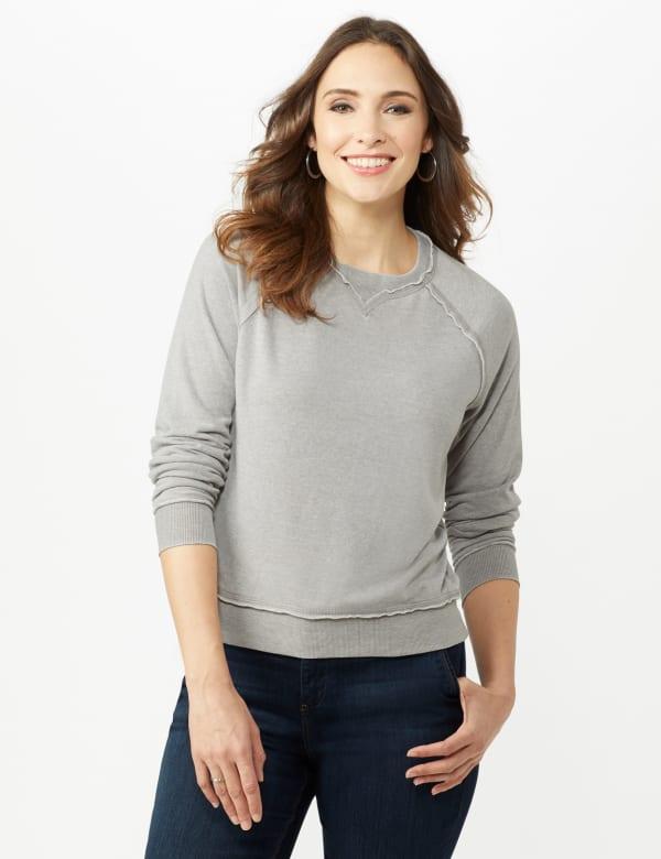 Mineral Wash Raw Edge Sweatshirt