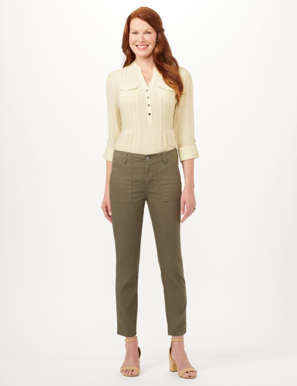 Cargo Pocket Slim Pants - Pasture - Front