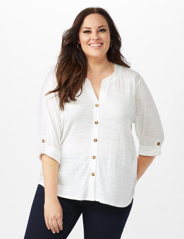 Bahama Breeze Button up Shirt - Ivory - Front
