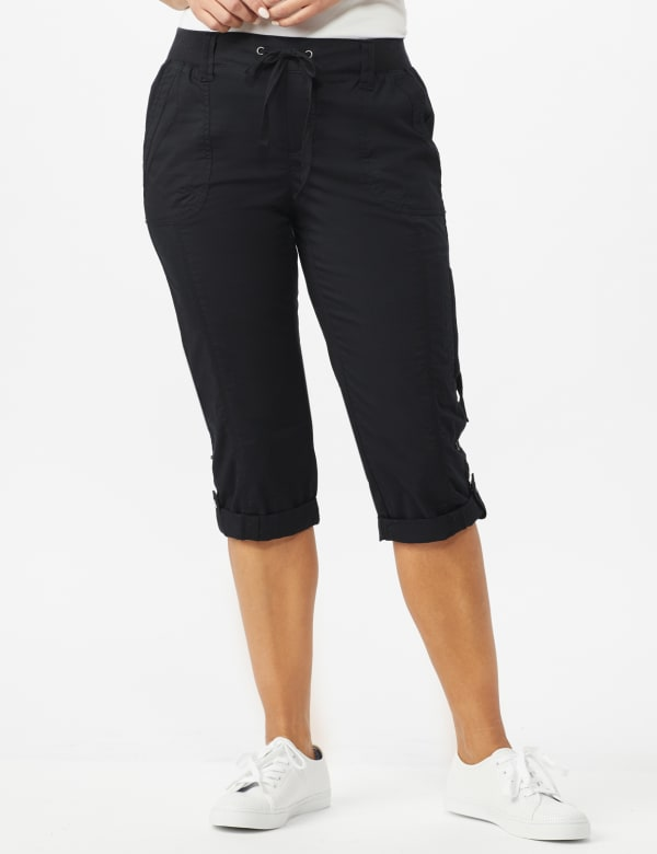 Pull On Capri - Ebony Black - Front