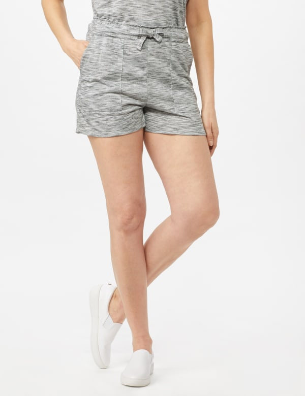 Space Dye French Terry Short - Grey - Front
