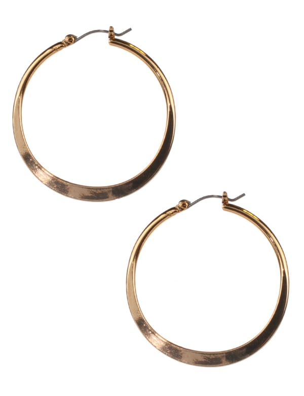 Small Round Click-It Hoop -Gold Plating - Front