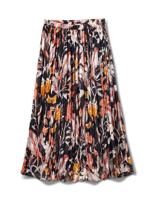 Long Crinkle Skirt