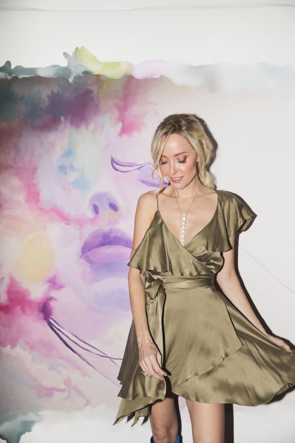 Sofia Dress - Olive - Front