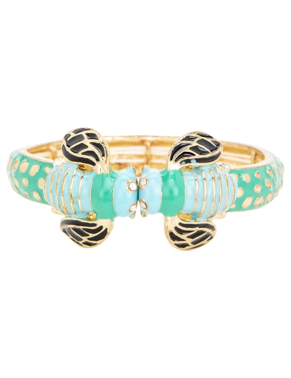 Pre-Order Turquoise Boho Bee Bangle Bracelet - Blue - Front