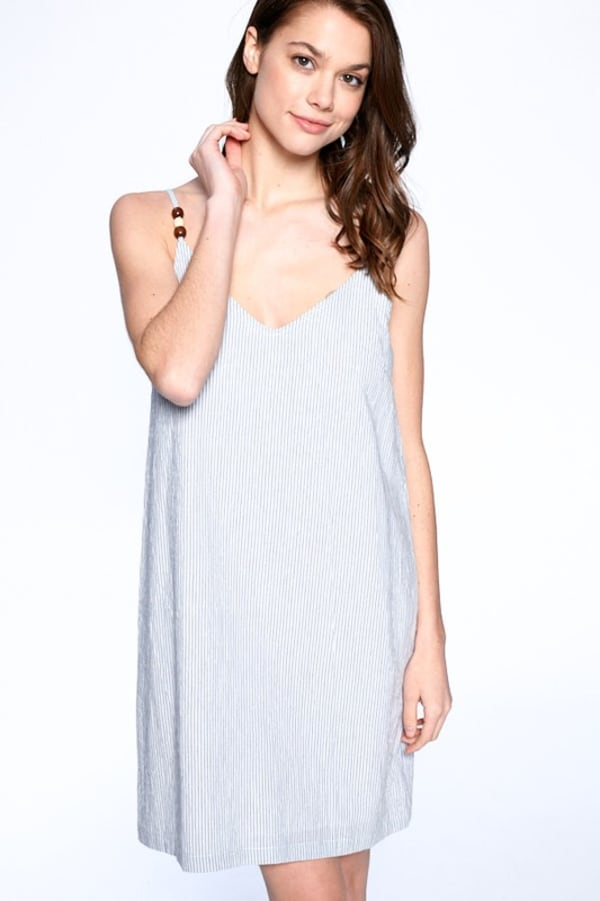 Everyday Night Dress - Blue / Ivory - Front