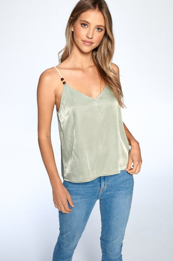 Silky Essential Tank - Sage - Front