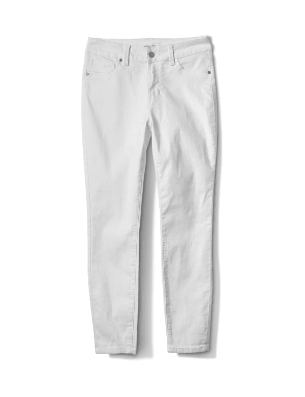 Skinny 5 Pocket Ankle Jean -White - Front