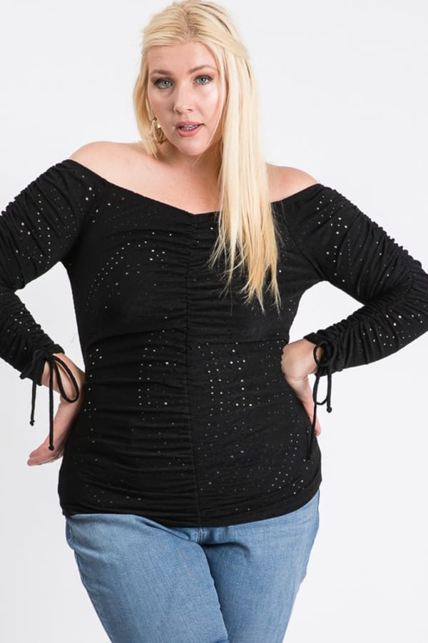 Show-Off Top - Black - Front