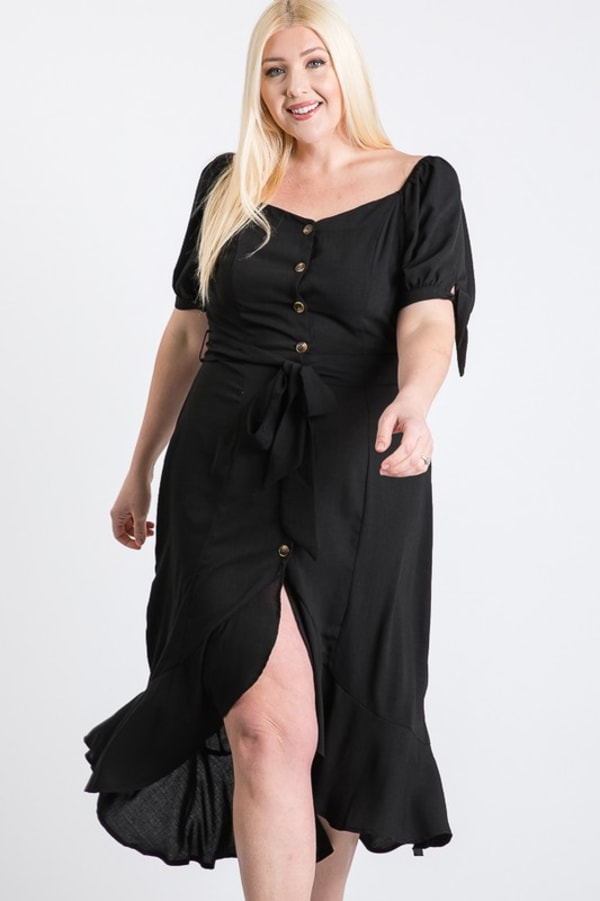 Give Your Pants A Break Summer Dress -Black - Front