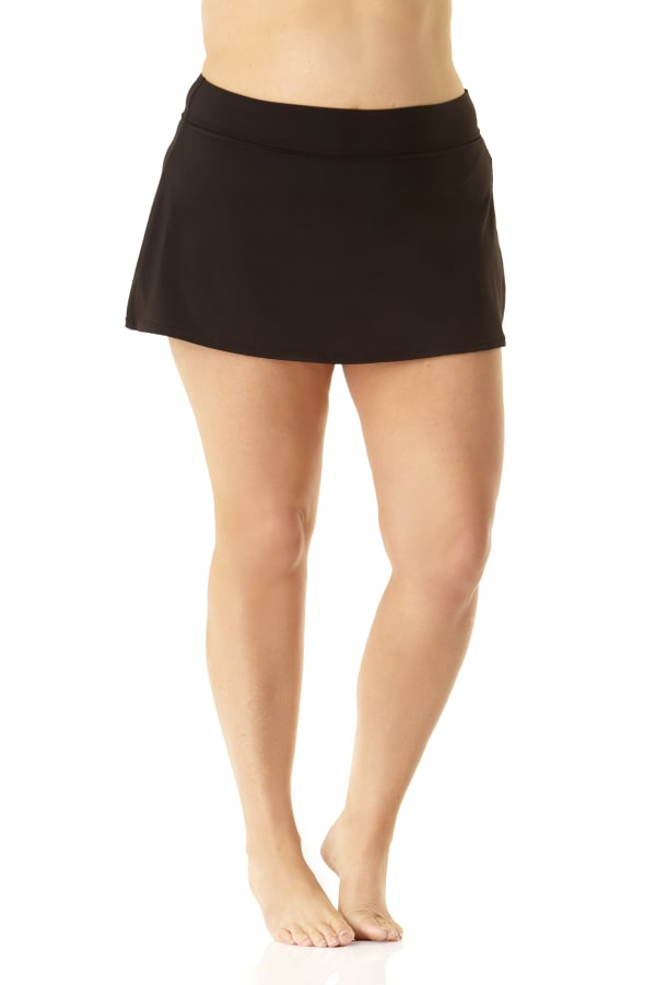 Anne Cole® Classic Swim Swimsuit Skirt - Black - Front