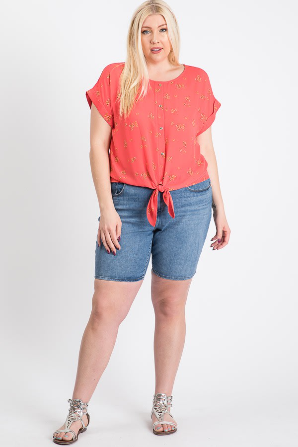 Off You Go Button-Down Tee