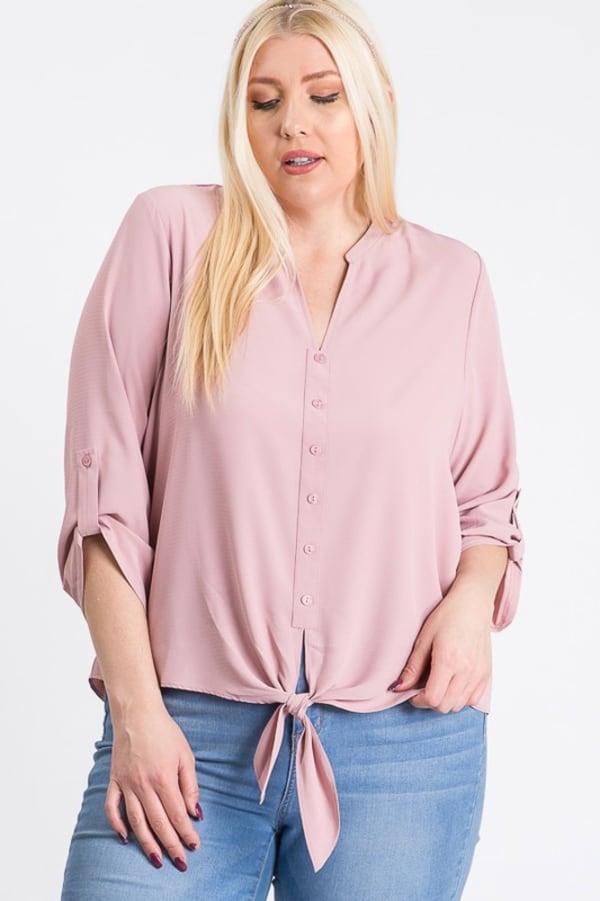 V-Neck Buttoned Shirt