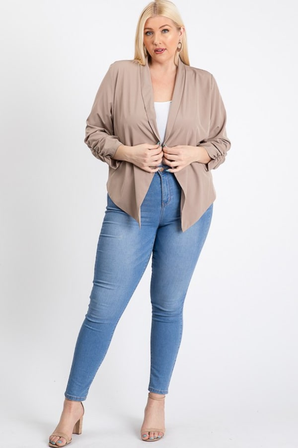 Duty Calls Blazer - Taupe - Front