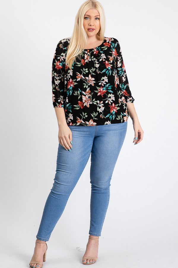 Ah-mazing Chiffon Floral Top