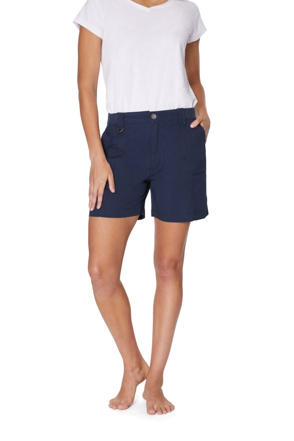 Caribbean Joe® Cotton Short -Navy - Front