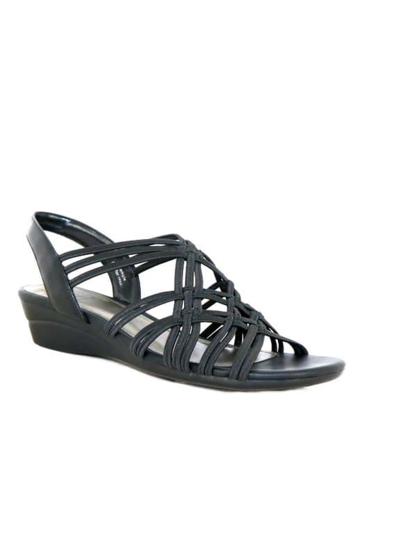 Impo Rainelle Wedge Sandal - black - Front