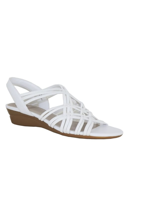 Impo Rainelle Wedge Sandal -white - Front
