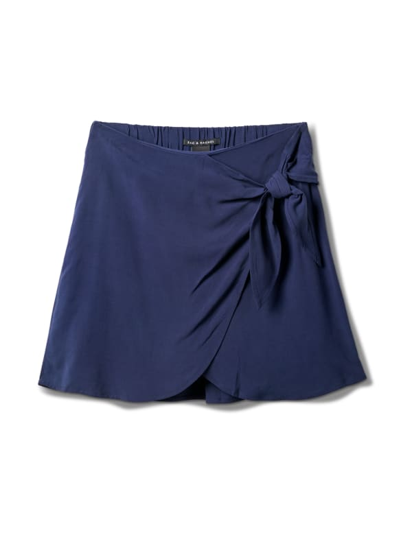 Pull On Skort with Back Elastic - Navy - Front