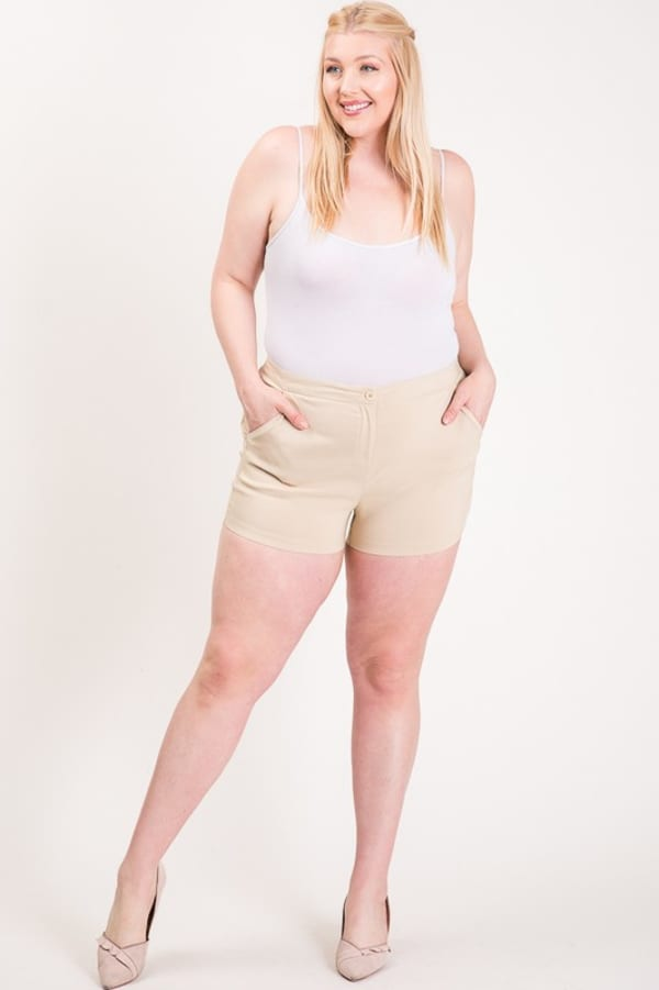Hot Shorts For Hot Summer Days - Khaki - Front