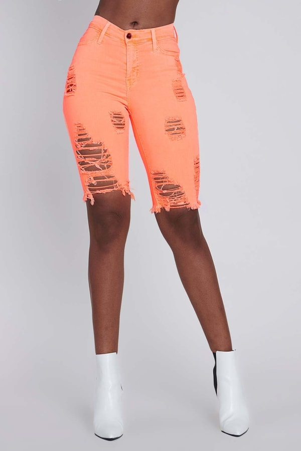 Bold Orange Neon Capri Pants - Neon orange - Front