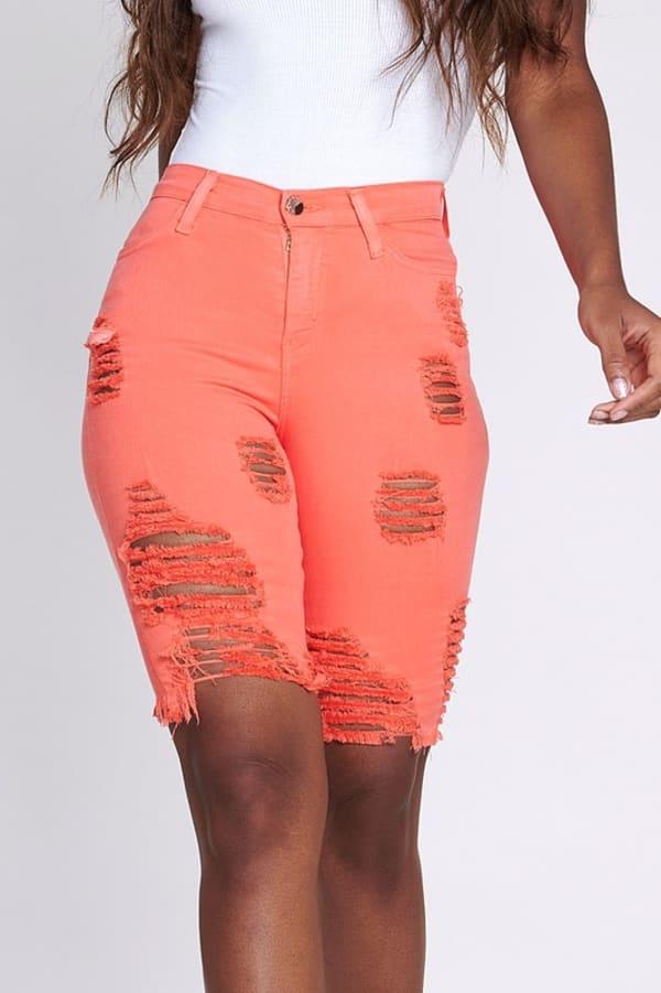 Bold Orange Neon Capri Pants