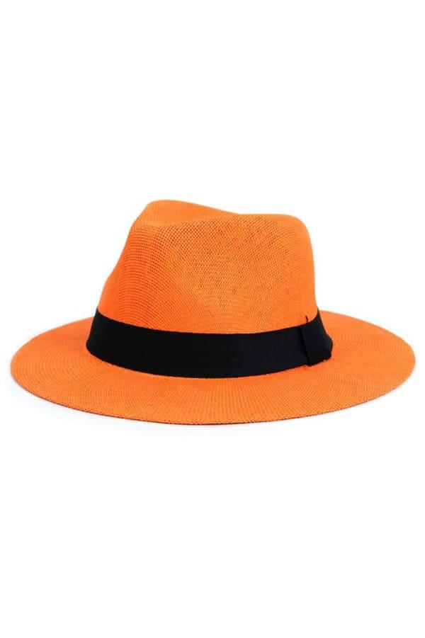 Colorful Wide Brim Panama Hat